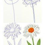 Фото 65: Как нарисовать ромашку поэтапно