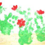 Фото 46: Нарисовать кактусы пальчиками и ладошками