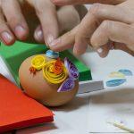 Фото 91: Украшение яйца квиллинг