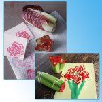 Фото 59: Точечное рисование штампами из овощей