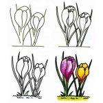 Фото 36: Как нарисовать крокусы поэтапно