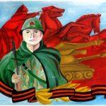 Фото 5: Рисунок солдат красной армии