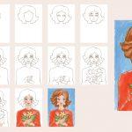 Фото 81: Нарисовать портрет мамы поэтапно