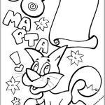 Фото 96: Раскраска рисунок с котиком к 8 Марта