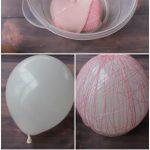 Фото 70: Яйцо из ниток со сладостями