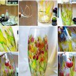 Фото 51: Как раскрасить вазу витражными красками поэтапно