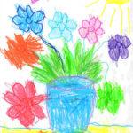 Фото 29: Рисунок цветов в вазе на 8 Марта для малышей