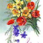 Фото 28: Рисунок букет весенних цветов на 8 Марта