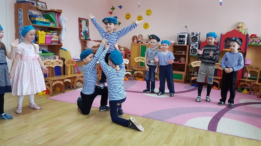 Танец на 23 февраля в детском саду морячки