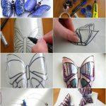 Фото 34: Бабочки из пластиковой бутылки