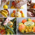Фото 27: Как сделать букет из фруктов своими руками
