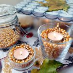 Фото 44: Декор подсвечника зернами кукурузы