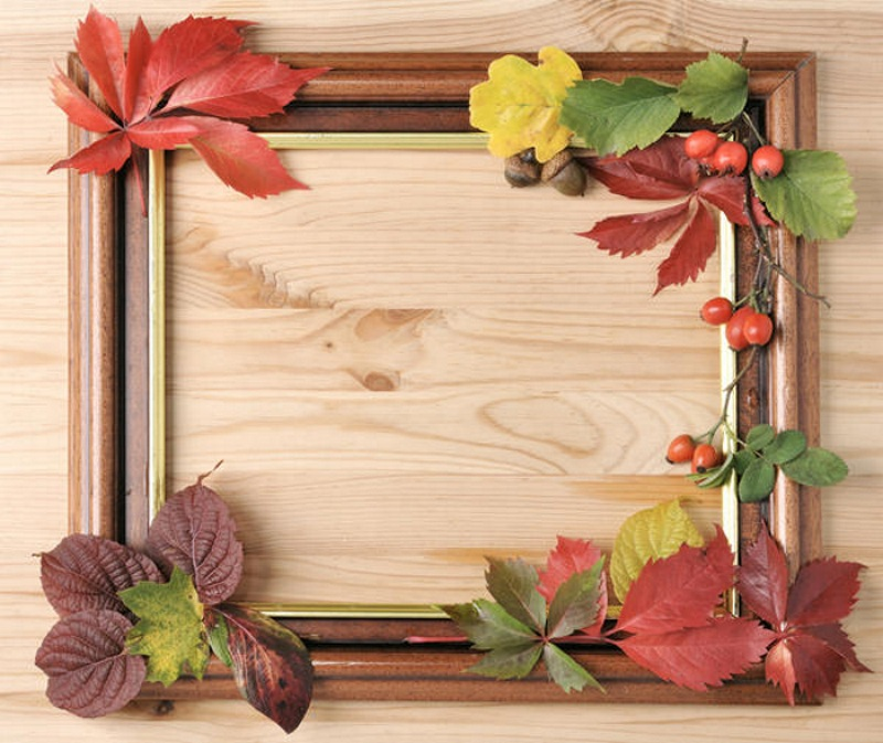 Декор рамки листьями