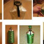 Фото 37: Декор бутылки на 23 февраля своими руками