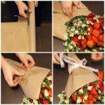 Фото 43: Оригинальный букет роз из клубники