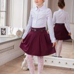 Фото 32: Малиновая школьная юбка