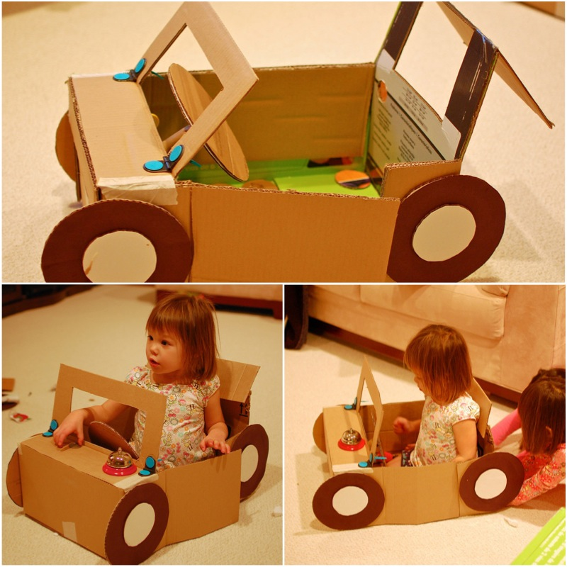 Машина из картона