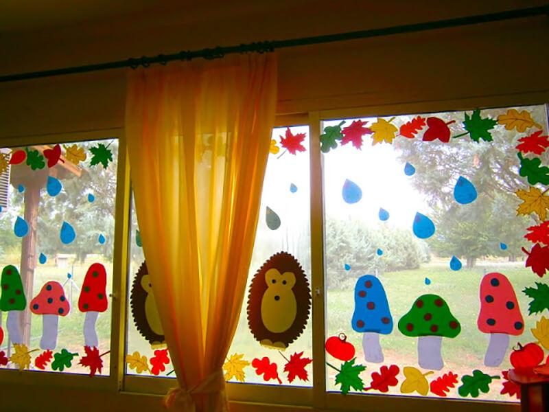 Осенний декор окна