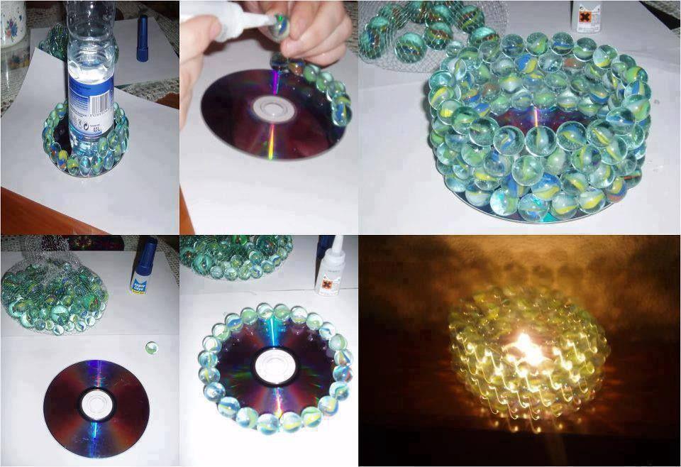 Как сделать подсвечники из дисков своими руками