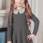 Фото 47: Школьное платье с воротником