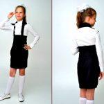 Фото 8: Школьная юбка с лямками