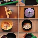 Фото 61: Сделать шкатулку из дисков и картона своими руками