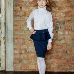 Фото 25: Школьная юбка–карандаш