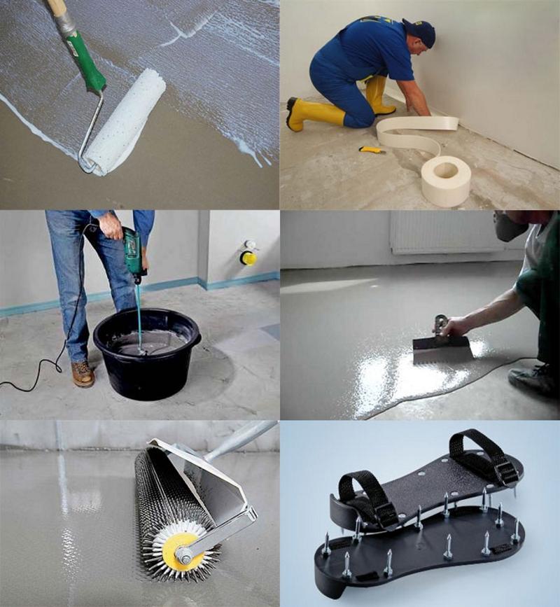Инструменты для нанесения наливных полов