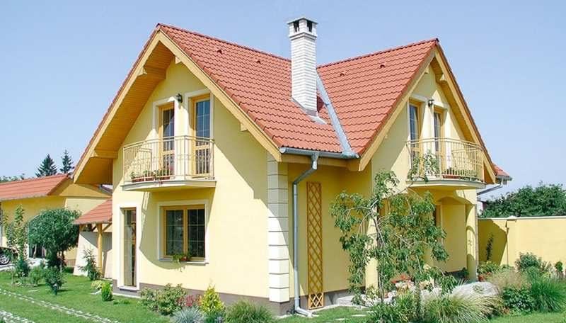 Многощипцовая крыша из двух двускатных крыш