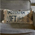 Фото 19: Подушки из льна с печатью для лофт