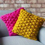 Фото 106: Наволочка из крупной вязки для подушки