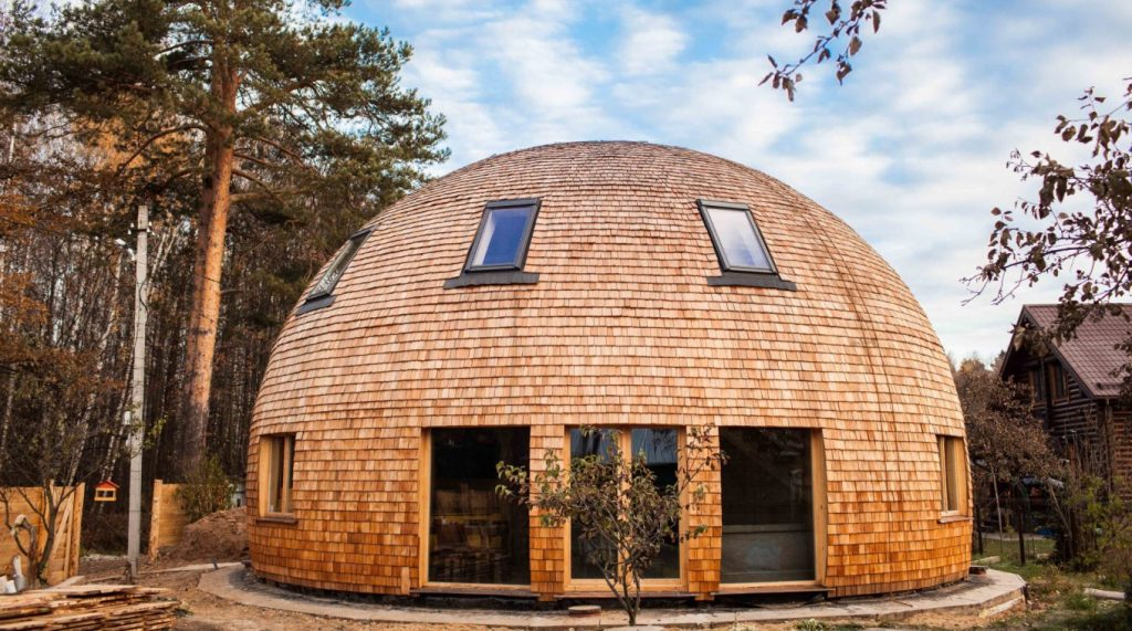 Купольная безреберная крыша
