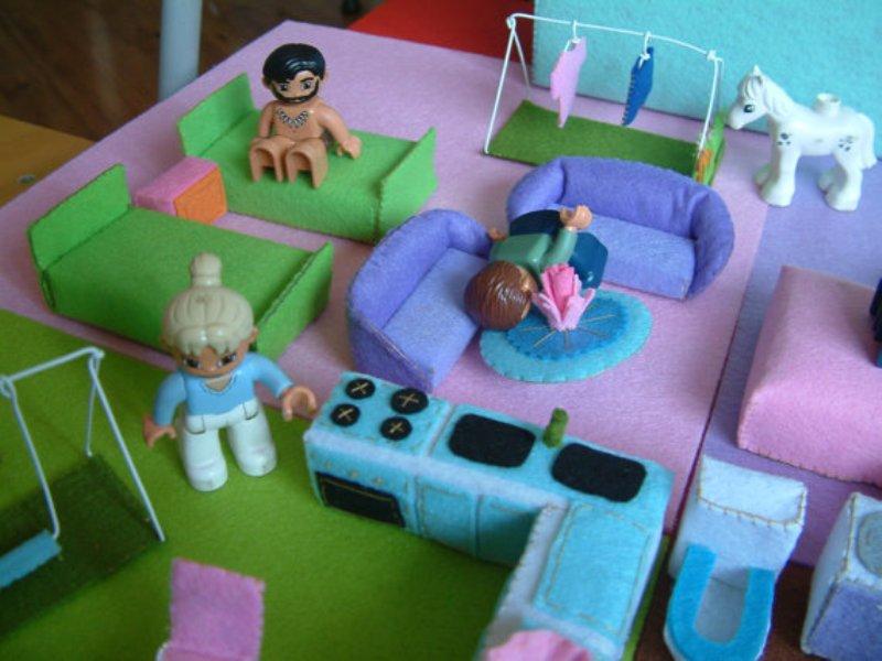 Мебель из фетра для куклы