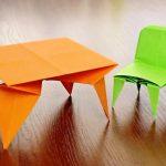 Фото 83: Мебель-оригами для кукол