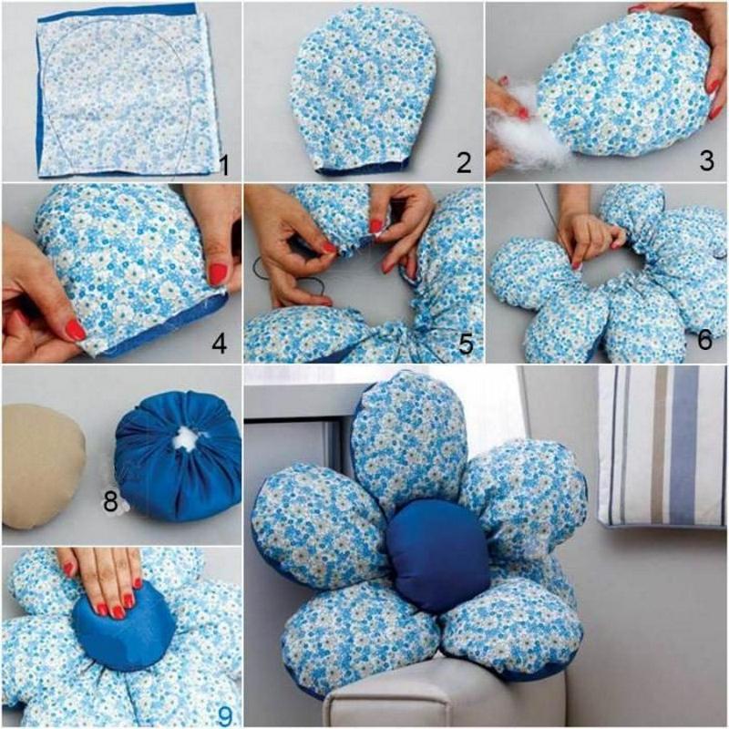 Изготовление подушки в виде цветка
