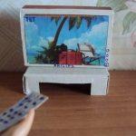 Фото 89: Телевизор из картона для кукол