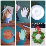 Фото 9: Новогодний венок из бумажных ладошек своими руками