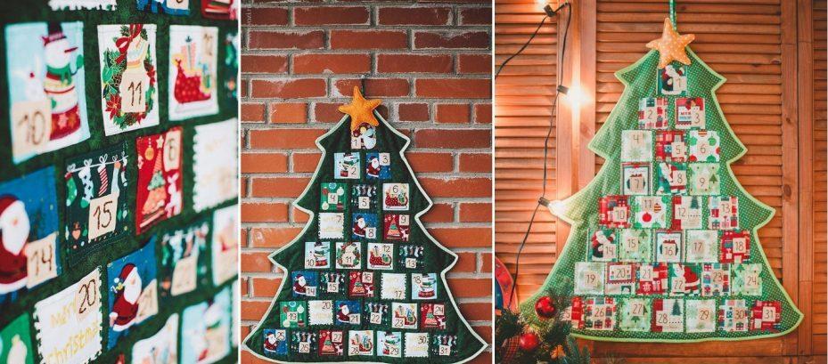 Адвент-календари в виде елочек на стену