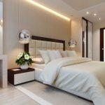 Фото 4: Бежевый цвет в интерьере спальни