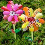 Фото 3: Цветы поделки для сада