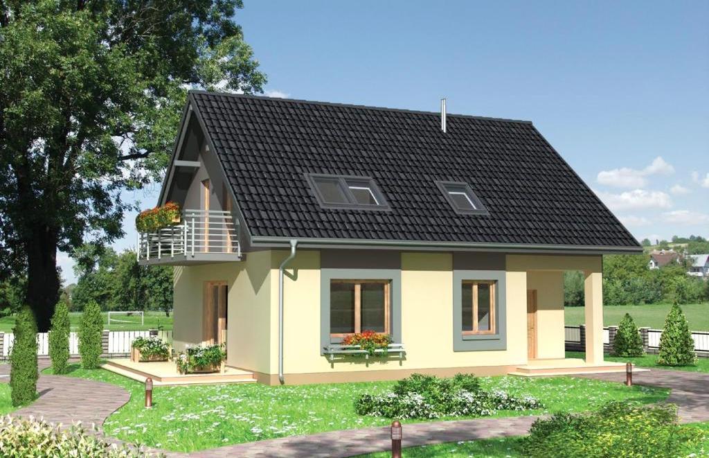 Дачный домик из пеноблока