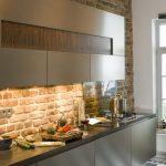Фото 162: Декоративный кирпич на кухне фото