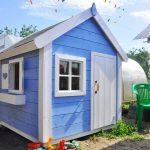 Фото 16: Детский домик голубого цвета