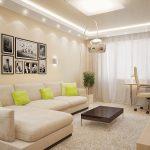 Фото 24: Дизайн бежевой гостиной комнаты