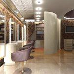 Фото 37: Дизайн интерьера рабочего зала салона красоты