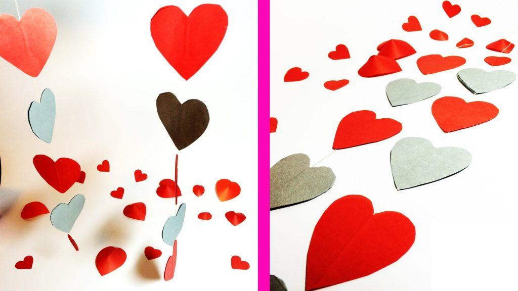 Гирлянда с сердечками