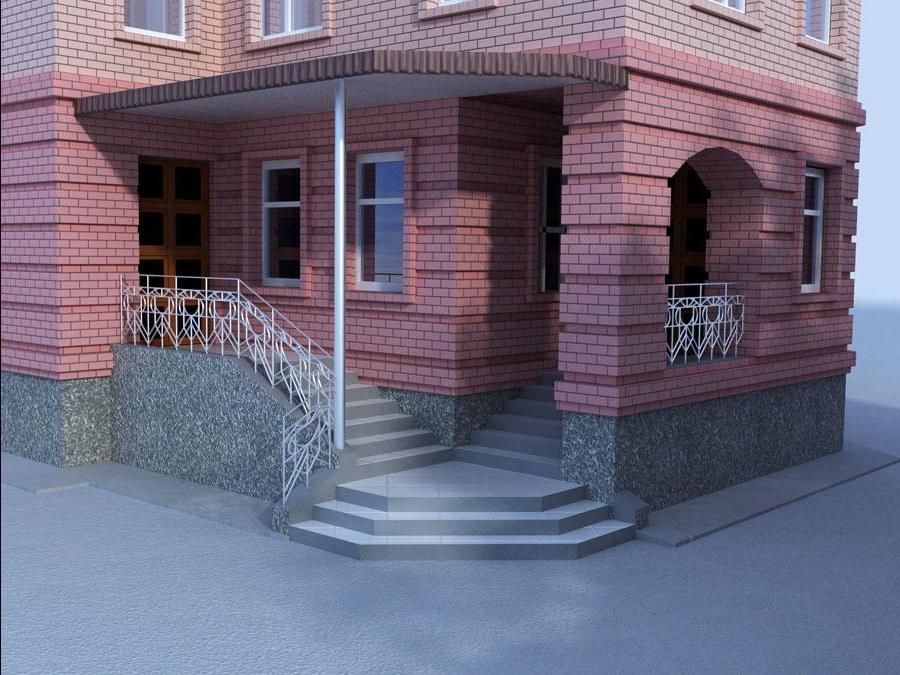 Крыльцо для кирпичного и каменного дома