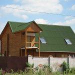 Фото 53: Крыша из ондулина для дачного домика