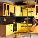 Фото 112: Кухня с преобладанием желтого цвета