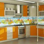 Фото 156: Кухонный фартук из пластиковых панелей